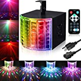 DJ Lights, SOLMORE Party Lights DMX512 Sound Actived Stage Disco Lights with Remote Control for Dance Parties Bar Karaoke Xmas Wedding Show Club 18W