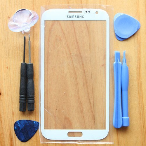 Price comparison product image Original Replace Screen Outer Glass Lens for Samsung Galaxy Note 2 N7100 White