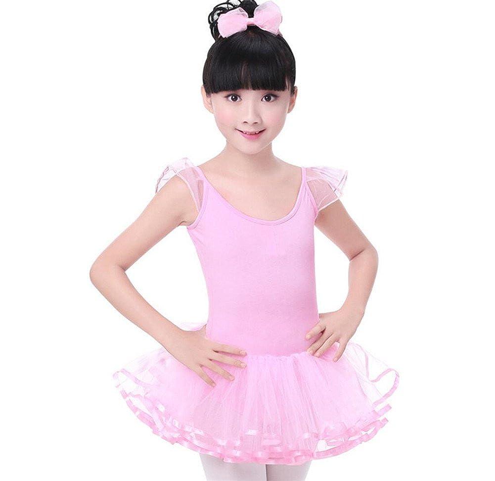 ZYZF Kid Girls Ruffled Mesh Ballet Dancing Leotard Tutu Skirt Tiered Dress Dancewear China 20180123077