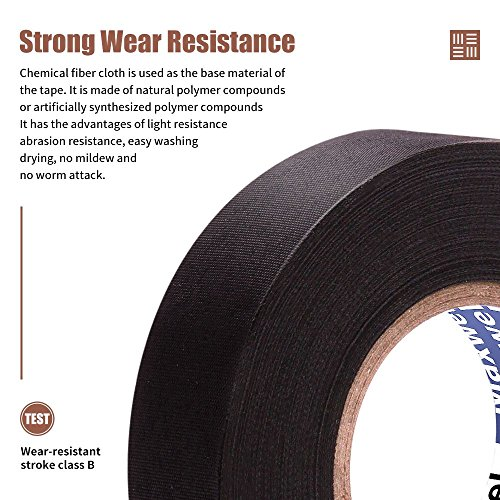 automotive wiring harness cloth tape - maxwel versaf51217 chemical fiber  cloth high temp wire harness wrapping