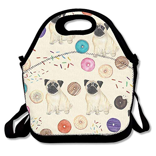 Clip Art â?? Dogs And Donuts Lunch Tote -