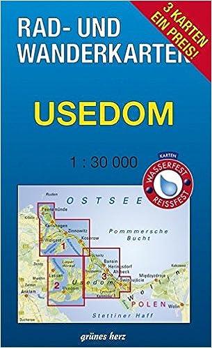 Usedom Karte Deutschland.Rad Und Wanderkarten Set Usedom Mit Den Karten Zinnowitz
