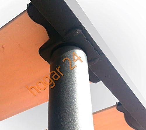 HOGAR24.es-Somier Somieres Lama Ancha Reforzada con Tacos Anti-Ruido y Patas cilíndricas, Tubo 40x30. Fabricación Nacional-150x200cm-PATAS 32CM