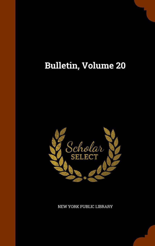 Download Bulletin, Volume 20 PDF