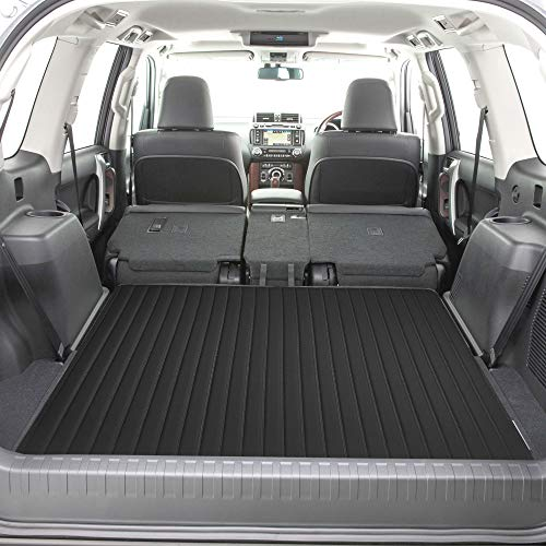 """FH Group F16500 Deluxe Heavy-Duty Faux Leather Multi-Purpose Cargo Liner, Striped, 46"""" : 40"""" x 46"""", Black Color- Fit Most Car, Truck, SUV, or Van ()"""