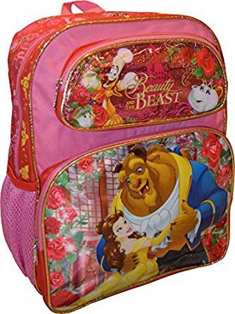 """2017 Disney Beauty and the Beast School Backpack 14"""" Belle G"""