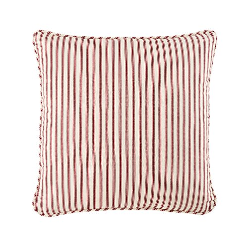 Sure Fit Ticking Stripe  - Pillow Slipcover  - Cardinal Red (SF43780) (Red Cotton Ticking)