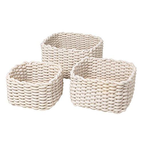 Blomus Corda Cotton Baskets - Set of 3 - Natural, Sand