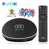 EGO Internet Smart TV Box - with Android 7.1 OS, [2018 Unique UI and Design] Support 4K/Wifi/Bluetooth/Miracast/, 2GB/16GB Quad Core Set Top Box
