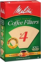 Melitta # #4 Cone Coffee Filters Natural...