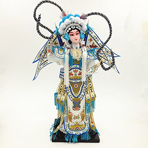 NW Chinese Traditional Handicraft Silk Figurine Collectible Chinese Doll Silk Doll (1800-White) ()