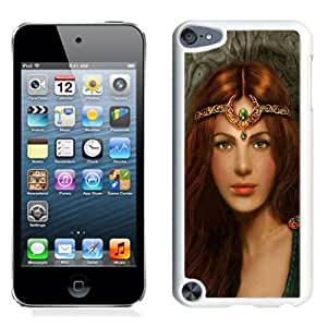 Beautiful And Unique Designed With Girl Princess Red Hair Jewelry Herbs (2) For iPod 5 Phone Case