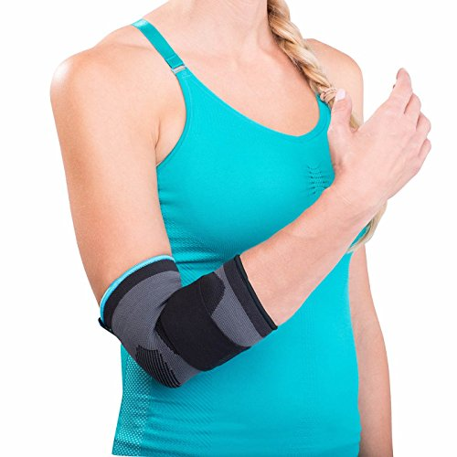 DonJoy Advantage DA161ES02-BLK-S Deluxe Elastic Elbow for Sprains, Strains, Golfer's and Tennis Elbow, Swelling, Black, Small 8