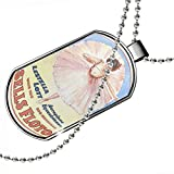 Dogtag Ballet Vintage Advertising Dog tags necklace - Neonblond