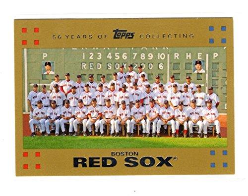 2007 Topps Gold Boston Red Sox Team Card #236 NM Near Mint 1247/2007