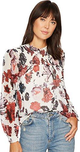 Lucky Brand Women's Open Floral Print Top