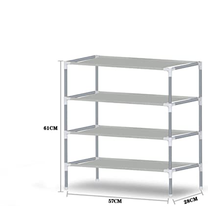 Gray Three-Layer 11x21x22 Inch Home Creative Simple Assembly Shoe Storage Rack Suitable for Bedroom Living Room Dormitory Corridor Bathroom Storage Shoe Rack