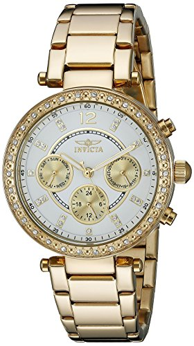 Ladies Case Ss - Invicta Women's 21387 Angel 18k Gold Ion-Plated Stainless Steel Bracelet Watch