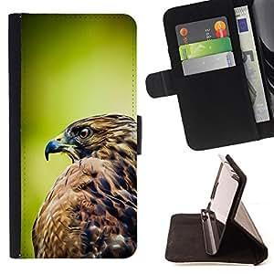 - Queen Pattern FOR Samsung Galaxy Note 3 III /La identificaci????n del cr????dito ranuras para tarjetas tir????n de la caja Cartera de cuero cubie - hawk green nature feathers bi