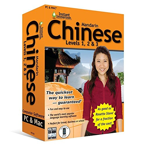 Learn How To Speak Chinese Mandarin With Instant Immersion Levels 1-3 Retail Box by Instant Immersion