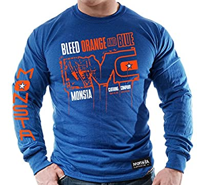 Bleed Orange and Blue (MC-Monsta) Longsleeve T-Shirt
