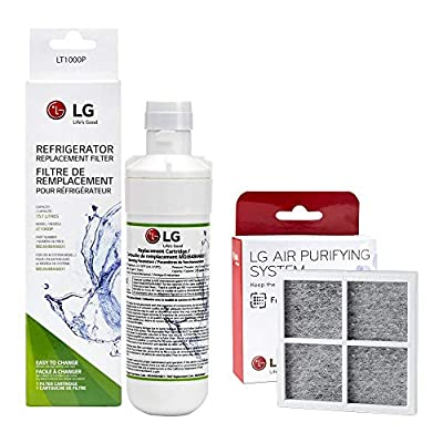 LG Genuine parts Bundle: LT1000p Refrigerator Water Filter with LT120F Air Filter