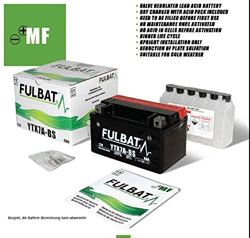 Fulbat 550620B327 Batterie YTX 7L-BS pour Kasinski SOFT 50 Bj: - (Volt/Ampere) 12/6 Kit