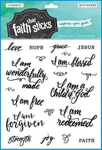 Prayer Stickers - Who I Am in Christ (Faith
