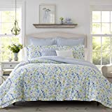 Laura Ashley Nora Comforter Bonus Set, Full/Queen, Bright Blue