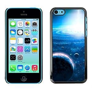 La Espiral Translucence - Metal de aluminio y de plástico duro Caja del teléfono - Negro - iPhone 5C