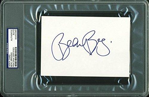 Beau Bridges Autographed 4X6 Index Card Autographed - PSA/DNA Authentic (Mem Bridge)