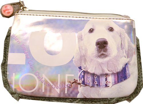 Fuzzy Nation Flat Screen print Wristlet Golden