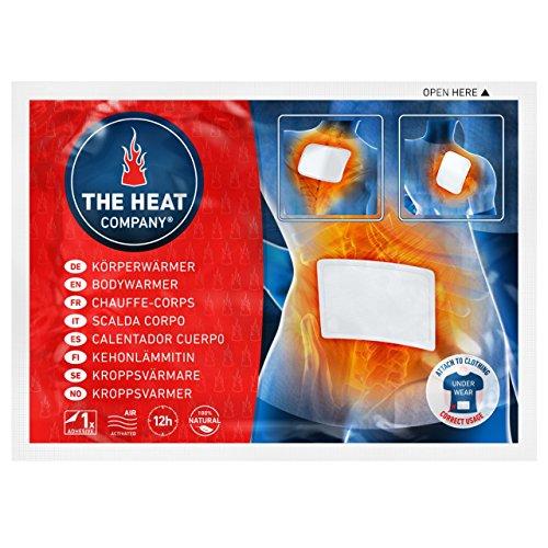 THE HEAT COMPANY Bodywärmer - EXTRA WARM - klebend - Körperwärmer - Rückenwärmer - 12 Stunden wohlige Wärme - sofort einsatzbereit - luftaktiviert - rein natürlich - 10 oder 40 Stück