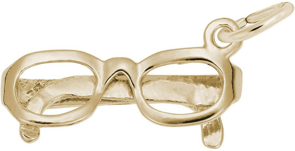 Rembrandt Glasses Charm - Metal - 14K Yellow Gold