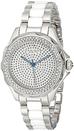 Akribos XXIV Women's AK534SS Swiss Quartz Diamond Ceramic Link Bracelet Watch