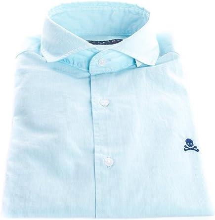 Scalpers Sport ELISEE Shirt Camisa, Stripes Green, 44 para Hombre: Amazon.es: Ropa y accesorios