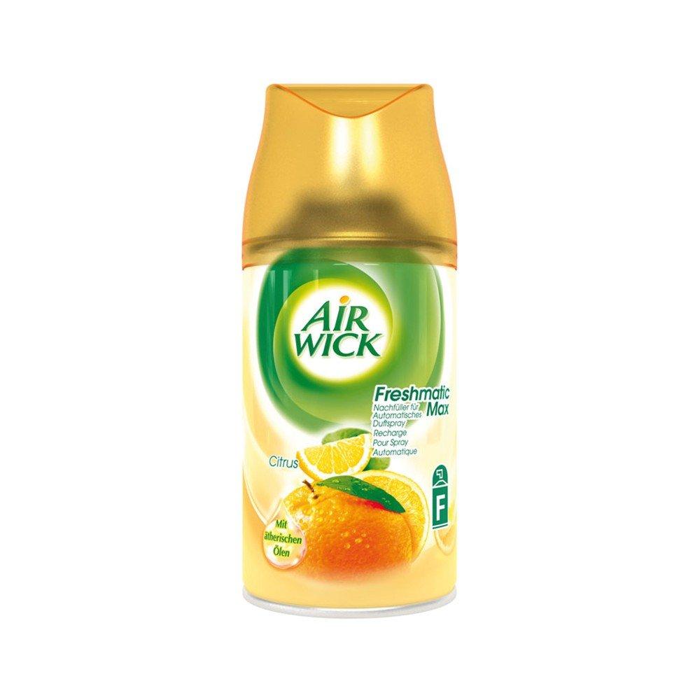 6 x Air Wick Freshmatic Max Automatic Spray Refill 250ml - Citrus Airwick