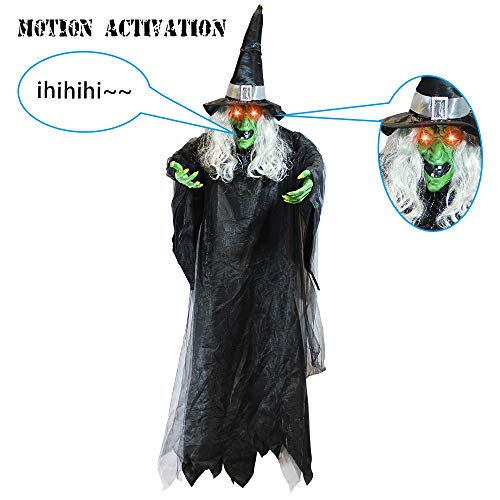 Halloween Witches Decorations - JOYIN Life Size Hanging Creepy Animated