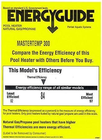 Natural 175-BTU Pentair 460792 Stainless Steel MasterTemp Grey//Almond Heater 0-2999 Altitude