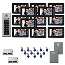 Building Video Intercom 12 seven inch color monitor door panel kit