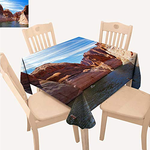 - UHOO2018 Decorative Tablecloth Square/Rectangle The Beautiful Lake of Powell Assorted Size,23 x 23inch