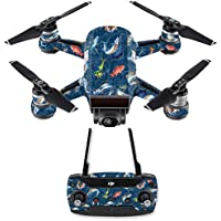 Skin for DJI Spark Mini Drone Combo - Saltwater Compass  MightySkins Protective, Durable, and Unique Vinyl Decal wrap cover   Easy To Apply, Remove, and Change Styles   Made in the USA