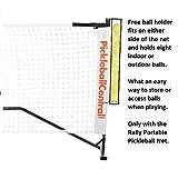 PickleballCentral Rally Portable Pickleball Net System with Ball Holder