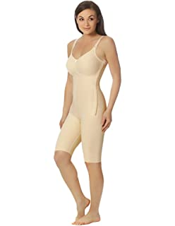 14fd94659b Marena Women's 1st Stage Compression Bodysuit with Bra and Thigh-Length Legs