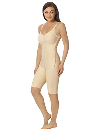 898ebc9cb Marena Women s 1st Stage Compression Bodysuit with Bra and Thigh-Length  Legs at Amazon Women s Clothing store