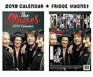 Rolling Stones Calendar 2019 + Rolling Stones Refrigerator Magnet