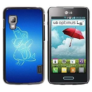 Be Good Phone Accessory // Dura Cáscara cubierta Protectora Caso Carcasa Funda de Protección para LG Optimus L5 II Dual E455 E460 // Blue Dragon
