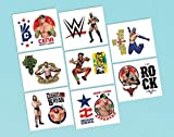 """Amscan Grand Slammin WWE Temporary Tattoos Birthday Party Favors (16 Pack), 2"""" x 1 3/4"""", Multicolor"""