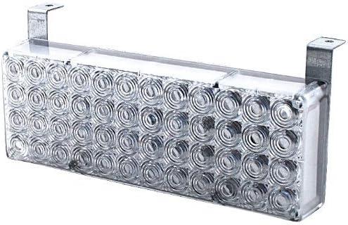 HQRP 96 Amber Yellow 3X Mode Deck Dash Grille Hazard LED Flash Strobe Lights 2 Panels 12V DC for Auto Track RV Trailer Plus HQRP UV Meter