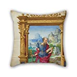 Artistdecor 16 X 16 Inches / 40 By 40 Cm Oil Painting Master Of The Getty Epistles (French, Active About 1528 - About 1549) - Saint Paul Pillow Covers ,twin Sides Ornament And Gift To Bedroom,gf,bed